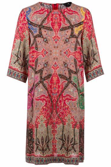 Damen Kleid mit Paisleymuster Rot