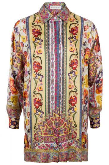 Damen Longbluse mit Print Multicolor