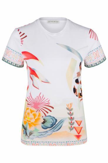 Damen T-Shirt mit Print Weiss