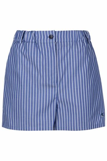 gestreifte Damen Shorts Blau