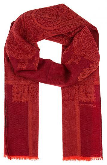 Herren Schal gemustert Rot