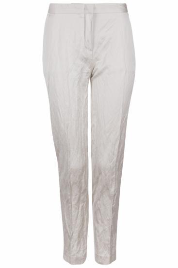 Damen Hose in Crashoptik Beige