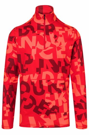 Herren First Layer Skishirt Pascal Rot