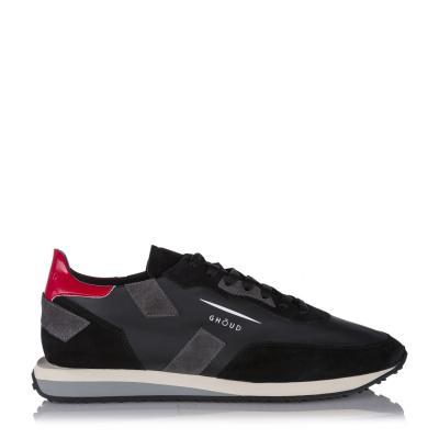 "Herren Ledersneaker ""Rush"" Grau/Schwarz"
