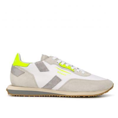 "Herren Ledersneaker ""Rush"" Weiss/Gelb"