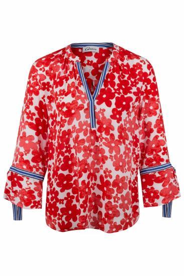 Damen Bluse mit Blütenprint Grenadine