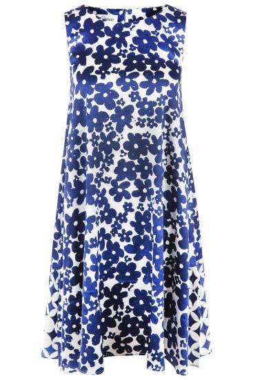 Damen Kleid mit Blütenprint Indigo