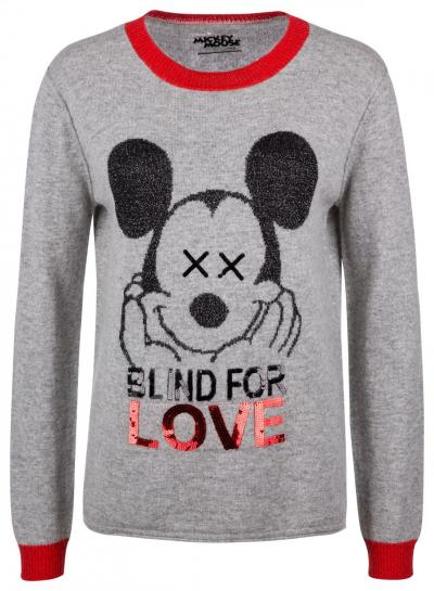 "Damen Strickpullover ""Blind for Love"" Hellgrau"