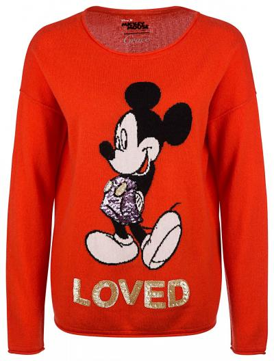 "Damen Strickpullover ""Loved"" Orange"