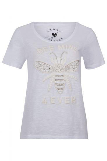 """Damen t-Shirt """"Bee mine 4ever"""" Weiss"""