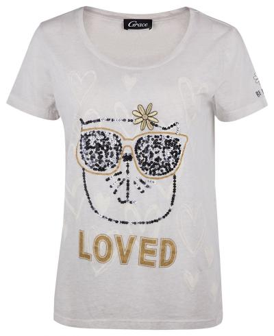 "Damen T-Shirt ""Loved"" Sand"