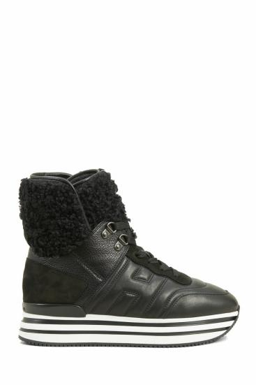 Damen Hightop Sneaker H483 Schwarz