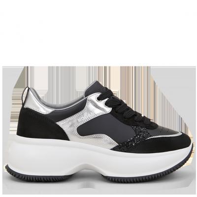 Damen Maxi Active Sneaker Schwarz
