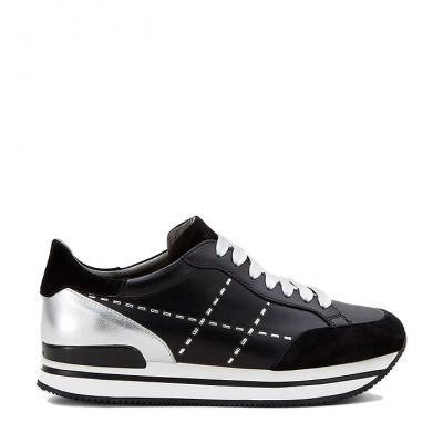 Damen Plateau Sneaker H222 Schwarz