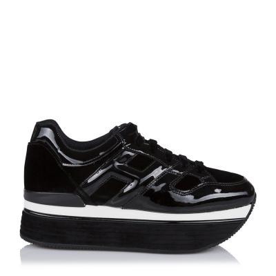 Damen Plateau Sneaker H379 Maxi Schwarz