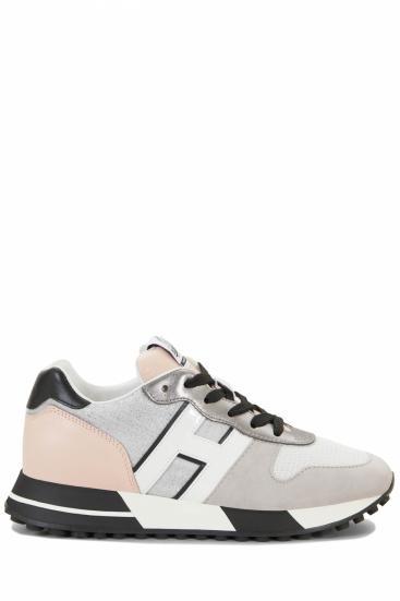 Damen Sneaker H383 Allacciato Pelle Grau