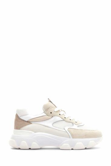 Damen Sneaker Hyperactive Allacciato Beige