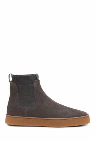 Herren Smart Casual Chelsea Boots Grau