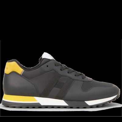 Herren Sneaker H383 Retro-Running Schwarz