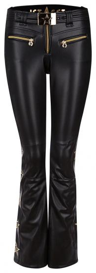 Damen Skihose Tiby Tiger Leather Schwarz