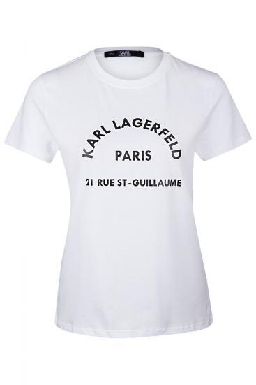 Damen Address Logo T-Shirt Weiss