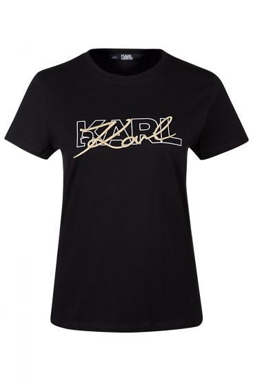"""Damen """"Double Logo"""" T-Shirt Schwarz"""