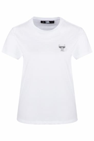 Damen T-Shirt Ikonik Mini Choupette Weiss