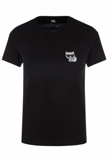 Damen T-Shirt Ikonik Mini Choupette Schwarz