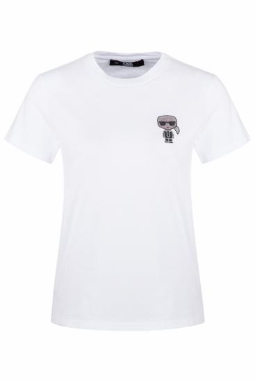 Damen T-Shirt Ikonik Mini Karl Weiss