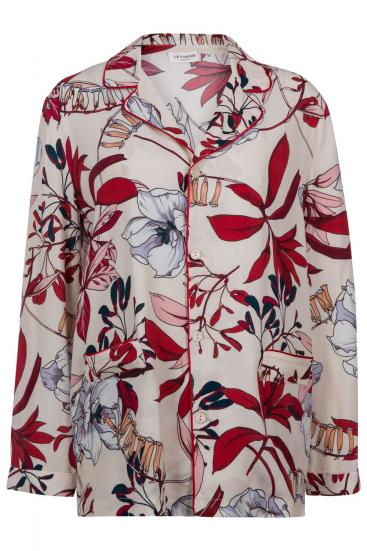 Damen Bluse mit Reverskragen Esotica