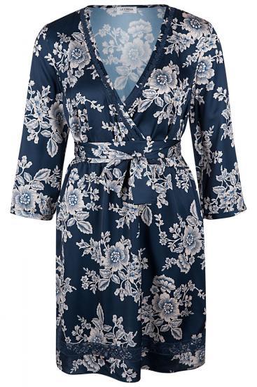 Damen Kleid mit Floralprint Blau