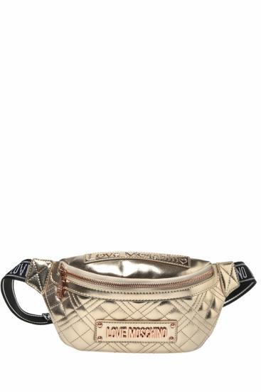 Damen Gürteltasche Borsa Quilted Nappa Bronze