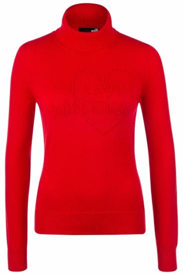 Damen Rollkragenpullover Rot