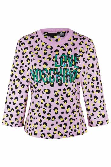 Damen Sweatpullover mit Print Pink