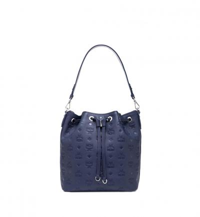 Damen Tasche Essential Leather SML Navy Blue