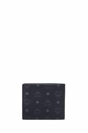 Herren Geldbörse Visetos Leather Mix SML Wallet Schwarz