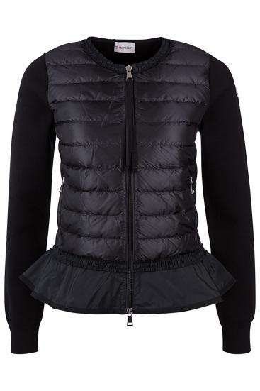 Damen Jacke mit Schößchen Schwarz