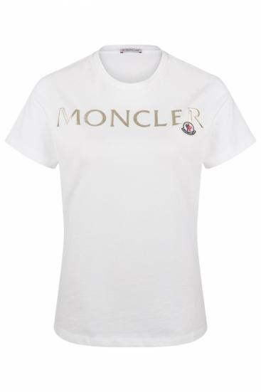 Damen T-Shirt mit Logoprint Weiss