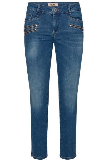 Damen Jeans Berlin Shore Zip Blau