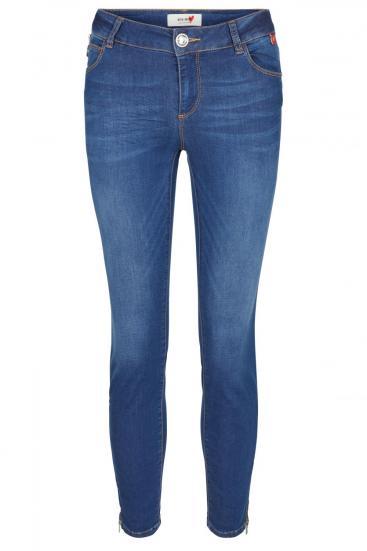 Damen Jeans Victoria Sateen Blue Denim
