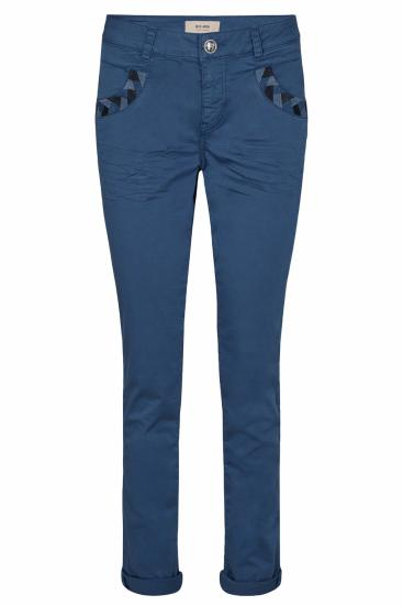 Damen Naomi Decor Pant Stoffhose Dark Blue