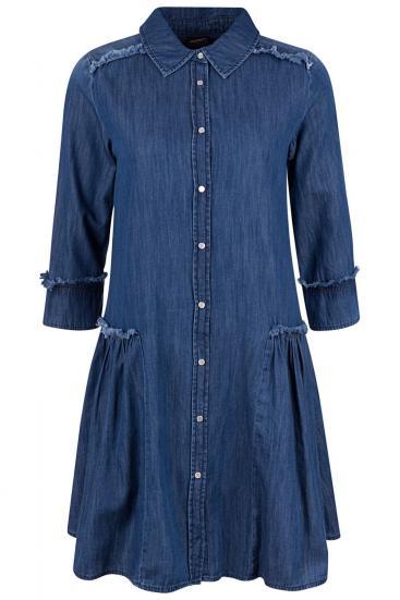 Damen Jeanskleid Denim Blau