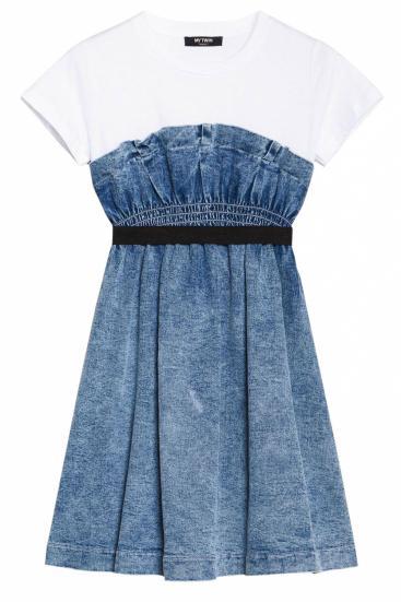 Damen Jeanskleid Hellblau