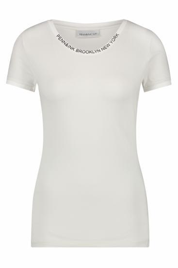 Damen T-Shirt Foggy White