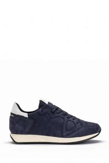 Herren Sneaker Monaco Nubuck Bleu