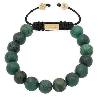 Damen Armband African Jade vergoldet