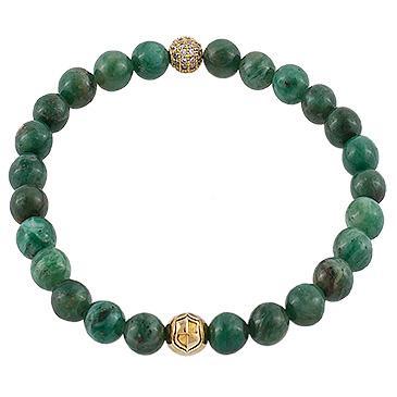 Damen Armband African Jade, Zirkonia Grün