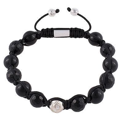 Herren Armband Onyx Schwarz