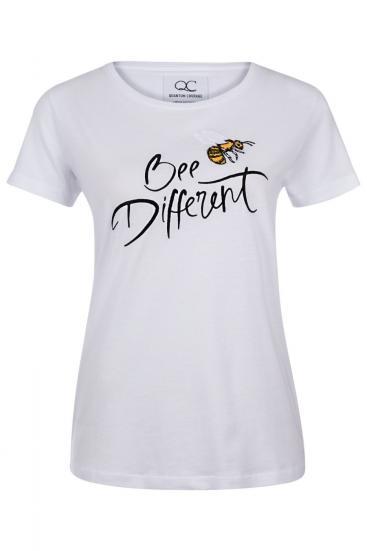 """Damen T-Shirt """"Bee Different"""" Weiss"""