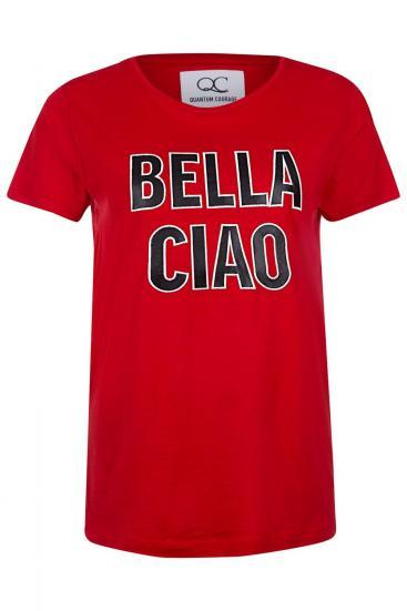 """Damen T-Shirt """"Bella Ciao"""" Rot"""